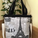 Párizs női táska, Táska, Baba-mama-gyerek, Ruha, divat, cipő, Válltáska, oldaltáska, Varrás, Kipróbáltam az új táskánkat!  Jelentem: nagyon szuper, kényelmes viselet, jól kihasználható. A mére..., Meska