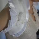 Fehér Menyasszonyi Boleró Swarovski Kristállyal, Nagyon szép fehér selyem modern szabású menyas...