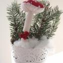 Pöttyös gomba karácsonyfa díszek, A közelgő ünnepekre érkeztek ezek a gombák. P...