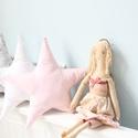 Csajos Csillag Párna - skandi-ajándék kislányoknak- gyerekszoba dekoráció, Egyszerű formájú, pihe-puha tapintású, rózsa...