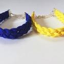 Nyári színkavalkád, Ékszer, Karkötő, Különböző színű műbőr szálból készített fonott karkötők. Méretre készítem. Rendelhe..., Meska