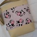 BOCI-BOCI SZIA BÉZS, Táska, Tarisznya, Válltáska, oldaltáska, Bézs  textilbőrből  es dekorvászontból készítettem ezt a kényelmes és praktikus táskát. B..., Meska