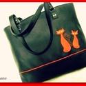 SZALADGÁLÓS NAGY TÁSKA  , Táska, Tarisznya, Válltáska, oldaltáska, Piros és fekete  színű kombinációjával  készítettem ezt a nagy  és praktikus táskát.  Bel..., Meska
