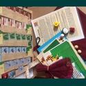 Csapatépítő társasjáték címe: 3x1, Játék, Táska, Társasjáték, Készségfejlesztő játék, A játékot tartó táska bordó bútorhuzat anyagból készült. A játékhoz tartozó eszközök: ..., Meska