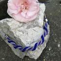 Királykék-ezüst horgolt nyaklánc, Ékszer, Nyaklánc,  Minőségi japán gyöngyök felhasználásával, gyöngyhorgolással készítettem ezt a nyakláncot. Királykék..., Meska