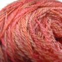 Rózsakert -kézzel festett gyapjúfonal, 100 % merinói gyapjú csipkefonal .Finom puhaság...