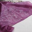 Rábaközi   mintás  selyemkendő, 55x55 cm-es hernyóselyem kendő .Ciklámen   szí...