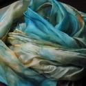 Karib tenger selyemsál, 40x150 cm-es  hernyóselyem  anyagra festettem ezt...