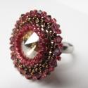 Aranyló gránátalma, Ékszer, Gyűrű, Csillogó swarovski gyűrű , amiben garantáltan nem maradsz észrevétlen .Az aranyló követ gránátalma é..., Meska