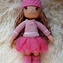 Öltöztethető horgolt baba, Játék, Baba, babaház, Horgolás, Teljesen öltöztethető horgolt baba 2 szett, egy kinti és egy benti ruhával. A haját akár össze is l..., Meska