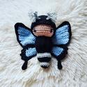 Horgolt pillangó baba, Játék, Készségfejlesztő játék, Horgolt hernyó/pillangó baba. Teljesen szétszedhető. Külön van a hernyó, pillangó szárny, s..., Meska