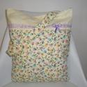 """""""Pasztell-virágos-indás """" táska,bevásárlótáska, bevásárló szatyor , Táska, Baba-mama-gyerek, Ruha, divat, cipő, Válltáska, oldaltáska, Prémium minőségű apró virágos-indás pamutvászonból  készítettem ezt a táskát. Organza s..., Meska"""