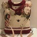 Bordó rózsás 4 in 1 táska, kézi-váll és oldaltáska, hátizsák, Baba-mama-gyerek, Ruha, divat, cipő, Táska, Válltáska, oldaltáska, Ez a táska elkelt, de rendelhető! Gyönyörű, nagyon jó minőségű  textilekből varrtam ezt a négyféleké..., Meska
