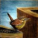 Ökörszem aquarellkép, Dekoráció, Kép, Aquarellkép falapra festve, akasztóval A festmény 20 x 20 cm,     , Meska
