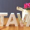 kikelet, dekoráció, fotókellék, Dekoráció, Dísz, 10 cm magas 3D-betűk., Meska