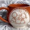 """Mesélő Bögrék:""""Együtt Veled"""", Konyhafelszerelés, Bögre, csésze, Kerámia, Ezekkel az aranyos kis figurákkal próbáltam kifejezni azt hogy milyen nagyszerű dolog amikor két em..., Meska"""