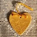 Köszönet ajándék szív sárga