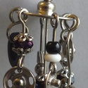 Patentos  fülbevaló, Ékszer, Fülbevaló, Patentos  fülbevaló,  Patentokból, gombokból, acél szerelékekből készült fülbevaló, Meska