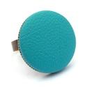 Világoskék textilbőr gyűrű, Ékszer, Gyűrű, Ékszerkészítés, Találd meg a textilbőrök között a Hozzád illő árnyalatot! :)  A gomb átmérője 25 mm, a gyűrű sárgar..., Meska