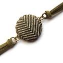 Zöld tweed mintás karkötő, Ékszer, Karkötő, Végre megérkeztek a karkötők is a kínálatomba! :) Ebben az egyszerű ám mutatós fazonban színben harm..., Meska
