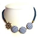 Matróz nyaklánc (zsinóros, kék), Vagány, élénk, feltűnő.  A legújabb, zsinór...