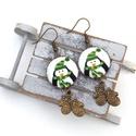 Pingvines fülbevaló, Ékszer, Fülbevaló, A tél varázslatos hangulatához illő, pingvines fülbevalót készítettem kis kesztyűkkel.  A gombok átm..., Meska