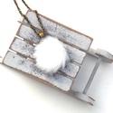 Szőrös MONO nyaklánc, Ékszer, Fülbevaló, A tél varázslatos hangulatához illő nyakláncot készítettem fehér műszőrmével.  A gomb átmérője 20 mm..., Meska