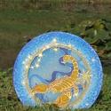 Skorpió horoszkóp mandala, Művészet, Festmény, Festmény vegyes technika, Selyemfestés, Skorpió horoszkóp mandala. Átmérő: 25cm  2db van készleten, Meska