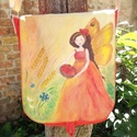 Nyártündéres táska, egyedi, kézzel festett