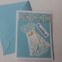 Egyedi képeslap - Gratulálunk, Naptár, képeslap, album, Képeslap, levélpapír, Ajándékkísérő, Papírművészet, Kézzel készült képeslapokat kínálok ünnepekre, különleges alkalomra, születésnapra, névnapra.  Hozz..., Meska