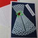 Egyedi képeslap - Sok boldogságot, Naptár, képeslap, album, Képeslap, levélpapír, Ajándékkísérő, Papírművészet, Kézzel készült képeslapokat kínálok ünnepekre, különleges alkalomra, születésnapra, névnapra.  Hozz..., Meska