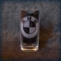 BMW-gravírozott pohár, Férfiaknak, Otthon, lakberendezés, Konyhafelszerelés, Bögre, csésze, 2,5 dl-es pohárra gravíroztam a BMW emblémát.  ***A termék rendelhető egyéni elképzelések alapján is..., Meska