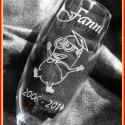 Ballagás - pezsgős pohár, Konyhafelszerelés, Bögre, csésze, Üvegművészet, Mindenmás, Ballagásra ötletes ajándék lehet diákoknak. Üdítős pohárra is kérhető a minta. , Meska