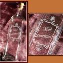 Gravírozott palack, Férfiaknak, Konyhafelszerelés, Sör, bor, pálinka, Üvegművészet, 1 literes  kézzel gravírozott üveg dugóval.    ***A termék rendelhető egyéni elképzelések alapján i..., Meska