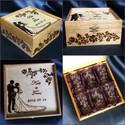 Esküvőre- röviditalos szett, Esküvő, Nászajándék, Rendelésre készült el eredetileg ez a szett a vevő elképzelése alapján.    A doboz pirogravírozással..., Meska