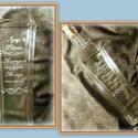 Igazi Pálinkához -Gravírozott palack, Férfiaknak, Konyhafelszerelés, Sör, bor, pálinka, Üvegművészet, 500 ml-es kézzel gravírozott üveg, dugóval.    ***A termék rendelhető egyéni elképzelések alapján i..., Meska