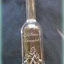 Gravírozott palack karácsonyra - 1, Férfiaknak, Konyhafelszerelés, Sör, bor, pálinka, Karácsonyi, adventi apróságok, Üvegművészet, 500 ml-es kézzel gravírozott üveg, dugóval.   ***A termék rendelhető egyéni elképzelések alapján is..., Meska