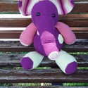 Horgolt óriás elefánt, Baba-mama-gyerek, Játék, Gyereknap, Játékfigura, Horgolás, Stip En Haak mintája alapján készült hatalmas aranyos. 36 centijével és hosszú orrával igazán kitűn..., Meska