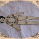 Papírbaba díva, méret: 22cm kartonból készült ,festett antiko...