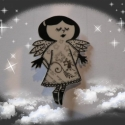angyalka kitűző Natáliának, Ékszer, Dekoráció, Bross, kitűző, Karácsonyi, adventi apróságok, méret: 3x4cm, Meska