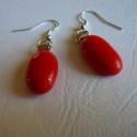 Fülbevaló piros, Minőségi amerikai üvegből készítettem ezt a ...