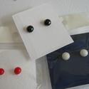 Pötty fülbevaló fincus14 részére 3 pár, Minőségi amerikai üvegből (bullseye) készíte...