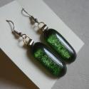 Fülbevaló  zöld aventurin, Zöld aventurinból  készítettem ezt a dekoratí...
