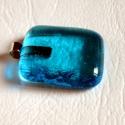 Kék  nyaklánc, Minőségi művész üvegből  készítettem ezt a...