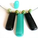 Zöld/fekete garnitura, Minőségi amerikai üvegből készült ez a ,  fe...