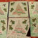 Karácsonyi köszöntő, 12x12 cm-es fatáblára készítettem, transzferá...