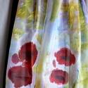 Pipacsos selyemsál, Ruha, divat, cipő, Kendő, sál, sapka, kesztyű, Kendő, Elvarázsol, magával ragad, télen melegít, nyáron hűsít. Pongé5 hernyóselyemből készítettem ezt a cso..., Meska
