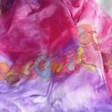Szívfüzér selyemsál, Ruha, divat, cipő, Kendő, sál, sapka, kesztyű, Kendő, Elvarázsol, magával ragad, télen melegít, nyáron hűsít. Pongé5 hernyóselyemből készítettem ezt a cso..., Meska