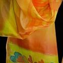 Napfényes szívek, Ruha, divat, cipő, Kendő, sál, sapka, kesztyű, Kendő, Elvarázsol, magával ragad, télen melegít, nyáron hűsít. Pongé5 hernyóselyemből készítettem ezt a cso..., Meska