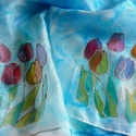 Tulipánok selyemsál
